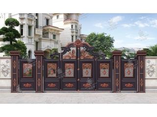 铝艺庭院大门护栏1