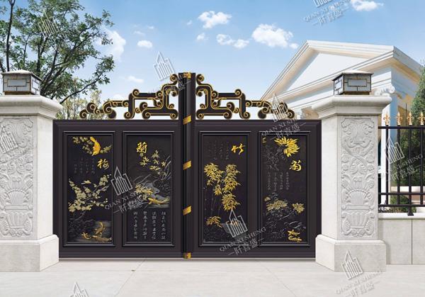 铝艺庭院大门护栏5